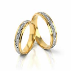 Obrączki z żółto-białego złota PARA