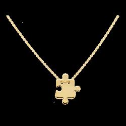 Łańcuszek z żółtego złota z zawieszką