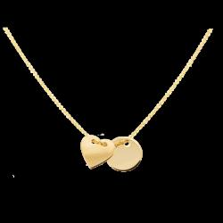Łańcuszek z żółtego złota z zawieszkami