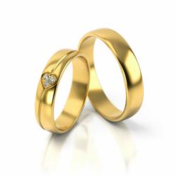 Obrączki z żółtego złota z cyrkoniami PARA