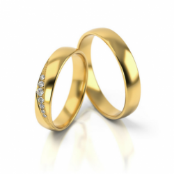 Obrączki z żółtego złota z cyrkonią PARA